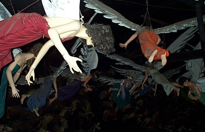 submit - or these flying mannequins will crap on your head