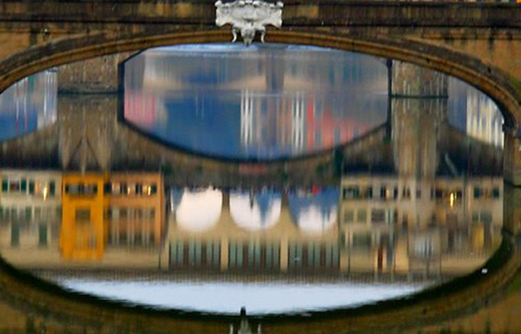 click the watery reflection beneath the bridge in the story to submit
